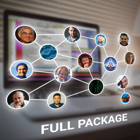 Full Package: 10  video recording and presentations and access to all event via zoom